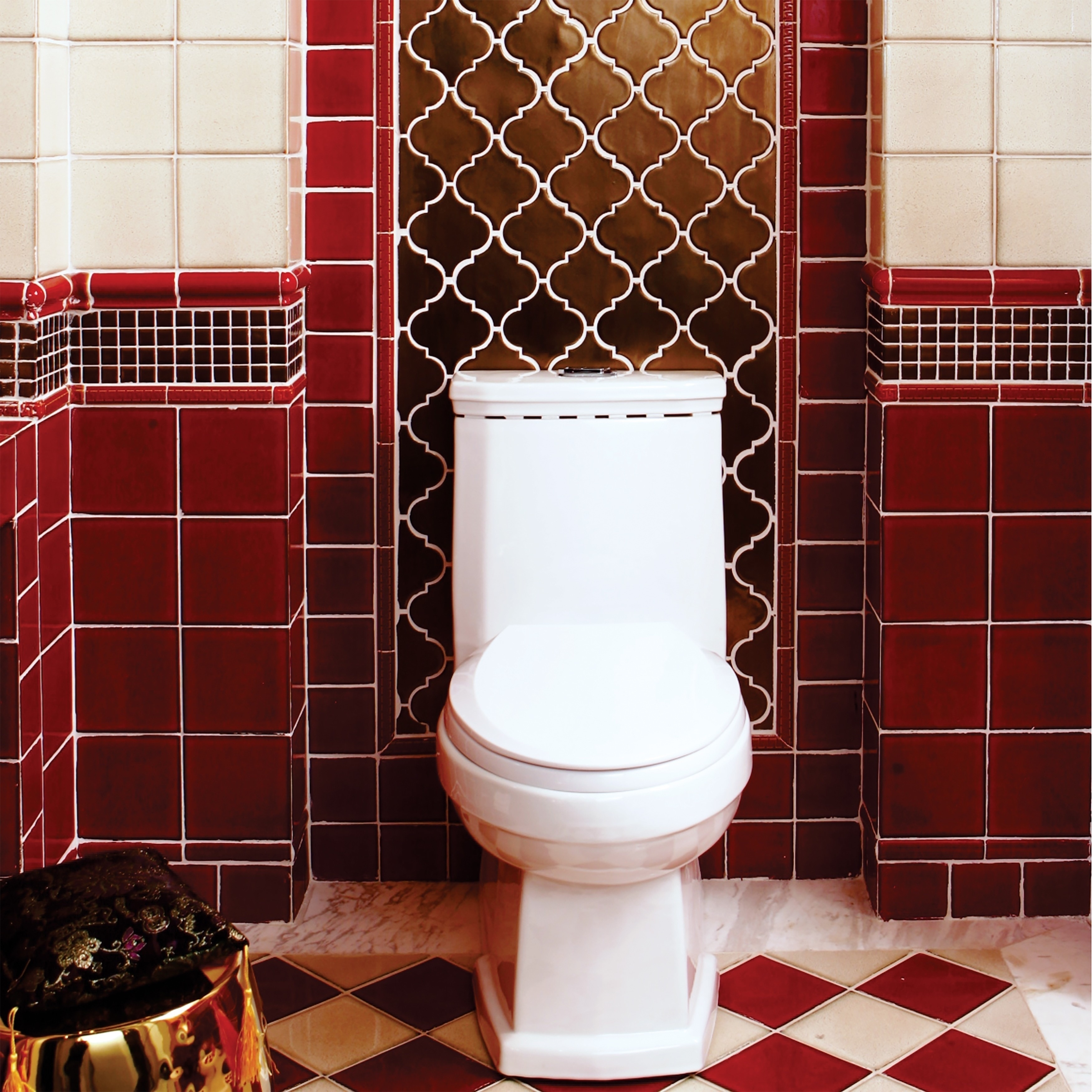 Somertile 4x4-inch Aspect Scarlet Porcelain Floor and Wal...