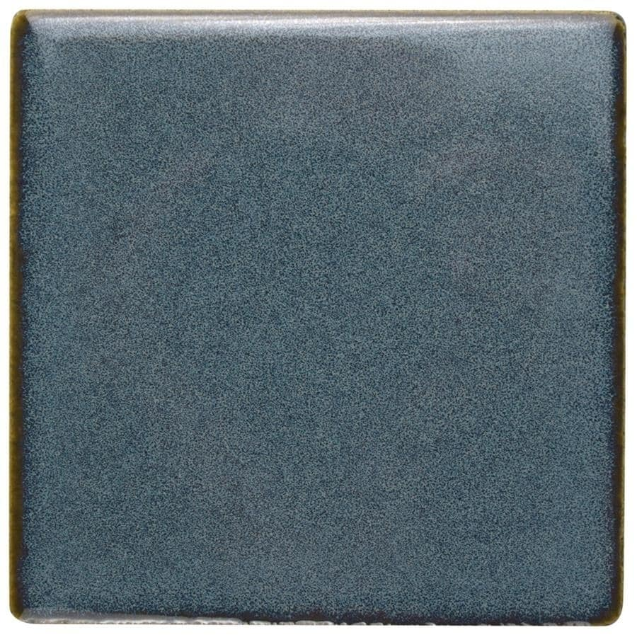 Somertile 4x4-inch Aspect Sea Blue Porcelain Floor and Wa...
