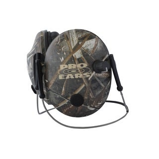 Pro Ears - Pro 200 - Behind The Head Headband - Electronic Hearing Protection & Amplification - Low Profile Cup - Max 5 Camo