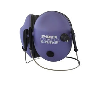 Pro Ears - Pro 200 - Behind The Head Headband - Electronic Hearing Protection & Amplification - Low Profile Cup - Purple