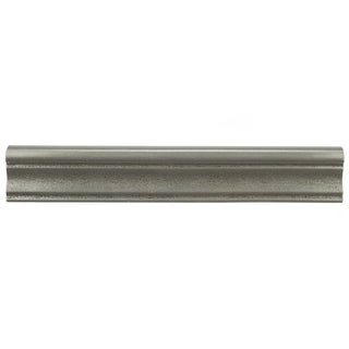 SomerTile 2x12-inch Courant Onda Pewter Resin Moldura Trim Wall Tile (Pack of 5)