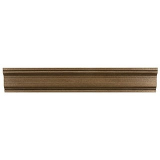 SomerTile 2x12-inch Courant Piazza Bronze Moldura Metallic Trim Wall Tile (Pack of 5)