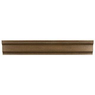 SomerTile 2x12-inch Courant Piazza Bronze Moldura Metallic Trim Wall Tile (Pack of 5)