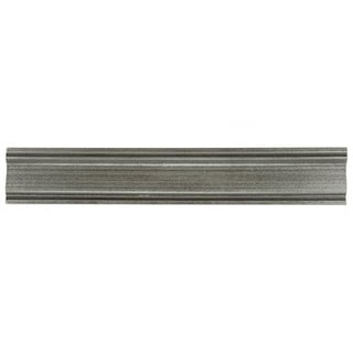 SomerTile 2x12-inch Courant Piazza Pewter Moldura Metallic Trim Wall Tile (Pack of 5)