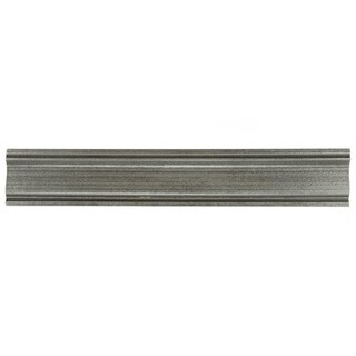 SomerTile 2x12-inch Courant Piazza Pewter Moldura Mixed Material Trim Wall Tile (5 tiles)