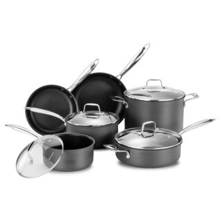Momscook Professional Hard Anodized Nonstick 10-Piece Cookware Set