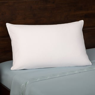 Grandeur Collection 330 Thread Count Cotton Luxe White Goose Down Pillow King Size (As Is Item)