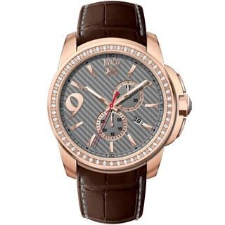Jivago Men's JV1532 Gliese Round Brown Leather Strap Watch