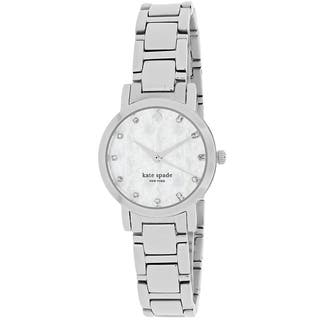 Kate Spade Women's 1YRU0146 Gramercy Round Silver Tone Stainless Steel Bracelet Watch|https://ak1.ostkcdn.com/images/products/11023894/P18039559.jpg?impolicy=medium
