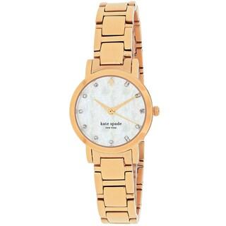 Kate Spade Women's 1YRU0191 Gramercy Round Rose Tone Stainless Steel Bracelet Watch