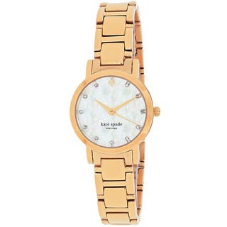 Kate Spade Women's 1YRU0191 Gramercy Round Rose Tone Stainless Steel Bracelet Watch|https://ak1.ostkcdn.com/images/products/11023895/P18039560.jpg?impolicy=medium