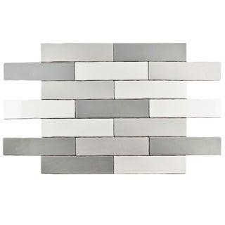 SomerTile 3x12-inch Juneau Craquele Soho Grey Ceramic Wall Tile (Case of 16)