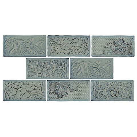 SomerTile 3x6-inch Antiguo Feelings Griggio Ceramic Wall Tile (8 tiles/1 sqft.)