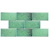 SomerTile 3x6-inch Antiguo Feelings Lava Verde Ceramic Wall Tile (8 tiles/1 sqft.)
