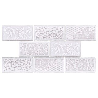 SomerTile 3x6-inch Antiguo Feelings Milk Ceramic Wall Tile (8 tiles/1 sqft.)