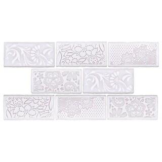 SomerTile 3x6-inch Antiguo Feelings Milk Ceramic Wall Tile (Pack of 8)