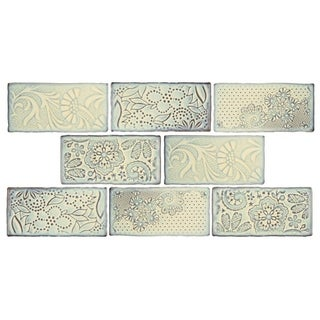 SomerTile 3x6-inch Antiguo Feelings Pergamon Ceramic Wall Tile (Pack of 8)