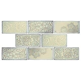 SomerTile 3x6-inch Antiguo Feelings Pergamon Ceramic Wall Tile (8 tiles/1 sqft.)