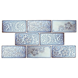 SomerTile 3x6-inch Antiguo Feelings Via Lactea Ceramic Wall Tile (Pack of 8)