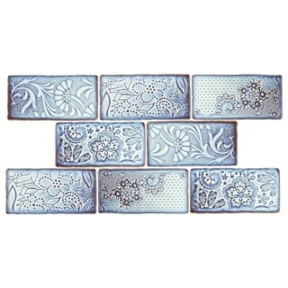 SomerTile 3x6-inch Antiguo Feelings Via Lactea Ceramic Wall Tile (8 tiles/1 sqft.)