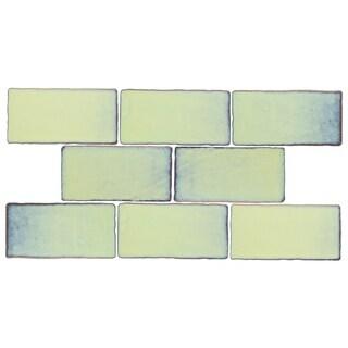 SomerTile 3x6-inch Antiguo Special Agua Marina Ceramic Wall Tile (8 tiles/1 sqft.)