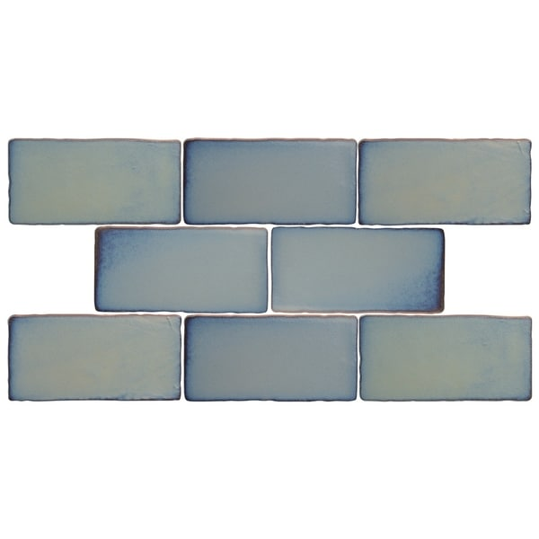 Shop SomerTile Xinch Antiguo Special Griggio Ceramic Wall Tile - 8 inch square ceramic tiles