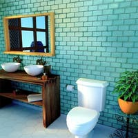 SomerTile 3x6-inch Antiguo Special Lava Verde Ceramic Wall Tile (8 tiles/1 sqft.)