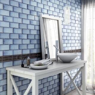 SomerTile 3x6-inch Antiguo Special Via Lactea Ceramic Wall Tile (8 tiles/1 sqft.)