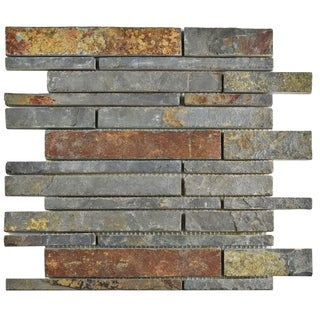 SomerTile 12x12-inch Ridge Grand Piano Sunset Slate Natural Stone Floor and Wall Tile (Case of 10)