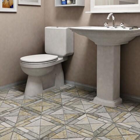 SomerTile 12x12-inch Ridge Vintage Arizona Quartzite Natural Stone Mosaic Floor and Wall Tile (10 tiles/10.21 sqft.)