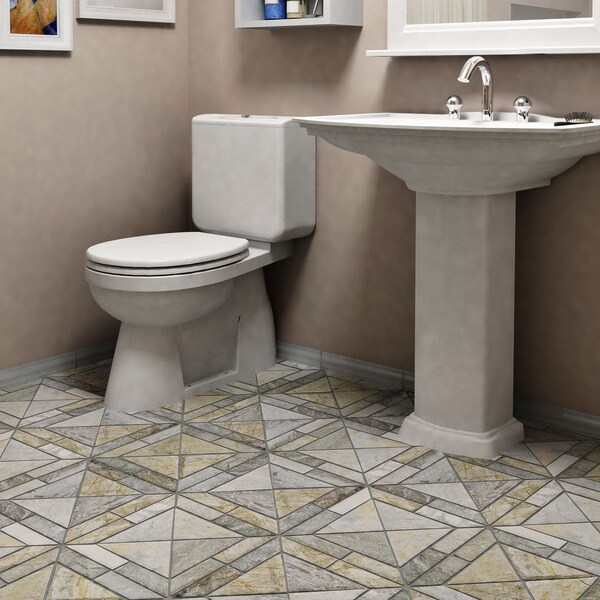 Somertile 12x12 inch ridge vintage arizona quartzite for 10 inch floor tiles