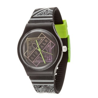 Airwalk Retro Analog Black Case and Logo on Dial with Black Silicone Strap Watch