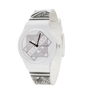 Airwalk Analog Unisex White Case and Logo on Dial with White Silicone Strap Watch