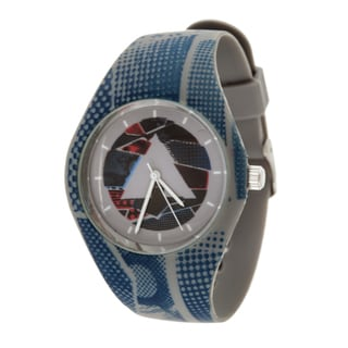 Airwalk Men's Silicone and Stainless Steel Logo on Dial with Grey Strap Analog Watch