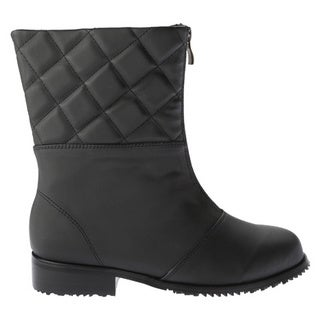 Women's Beacon Shoes Quebec Boot Black Vylon