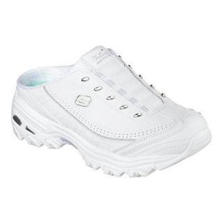 Women's Skechers D'lites Bright Sky Sneaker Clog White/Silver