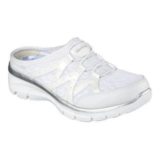 Women's Skechers Relaxed Fit Easy Going Repute Clog Sneaker White/Silver