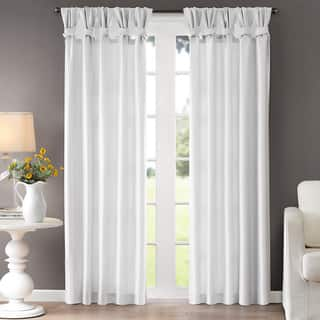 Madison Park Natalie Twisted Tab Curtain Panel (50 x 84) in Taupe (As Is Item)|https://ak1.ostkcdn.com/images/products/11035638/P90011766.jpg?impolicy=medium