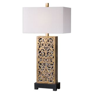 Vishera Antiqued Gold Table Lamp