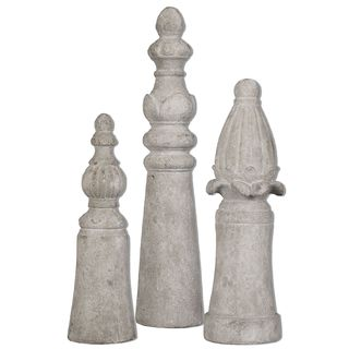 Asmund Aged Ivory Finials (Set of 3)