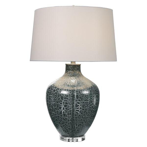 Zumpano Crackled Gray 2-light Table Lamp