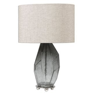 Stazzona Crackled Gray Glass Lamp