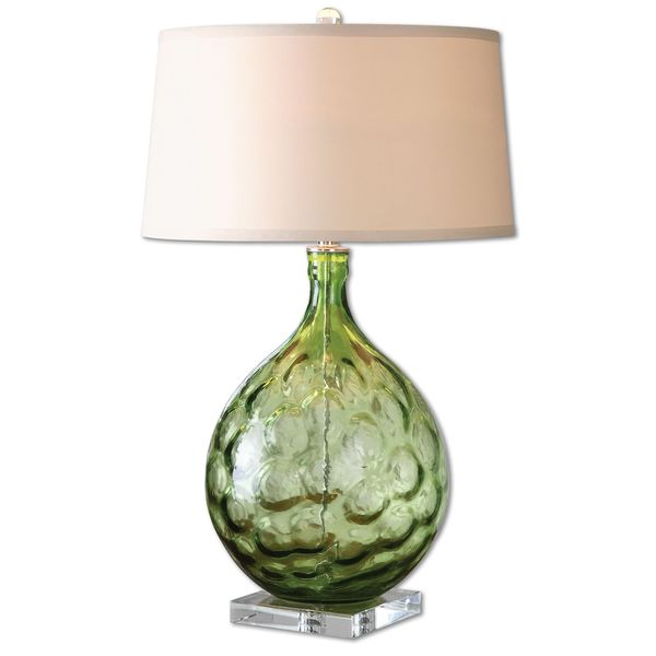 Florian Green Glass Table Lamp