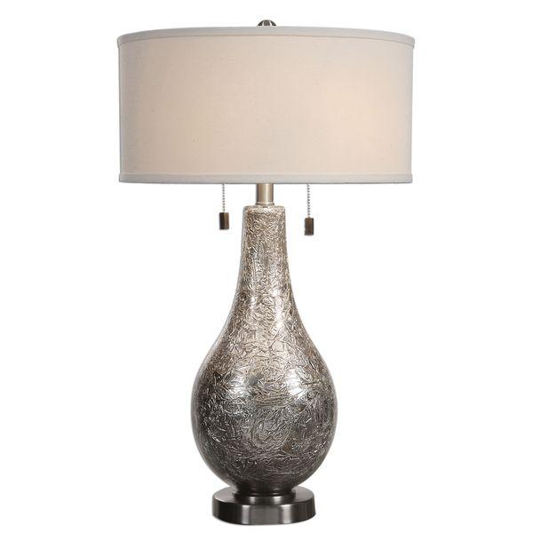 Saracena Mercury Glass 2-light Lamp