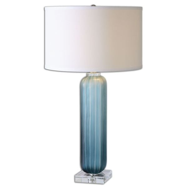 Caudina Frosted Blue Glass Lamp