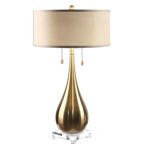 32457e5bfdf Lagrima Brushed Brass 2-light Lamp