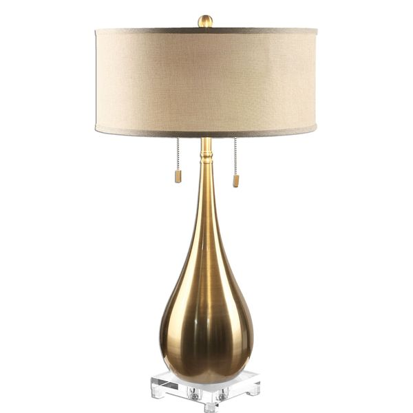 Lagrima Brushed Brass 2-light Lamp