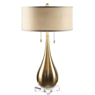 Lagrima Brushed Brass 2-light Lamp
