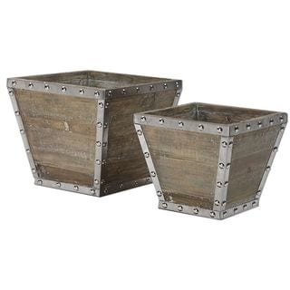 Birtle Wood Containers (Set of 2)