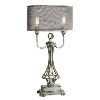 Pontoise Aged Ivory 2-light Table Lamp